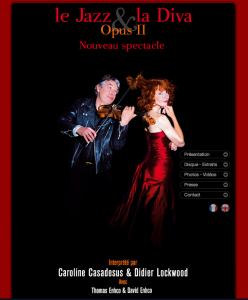 "Site internet du spectacle ""Le Jazz et la Diva Opus 2\"""
